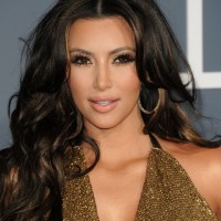 Kim Kardashian Hairstyles: Voluminous Long Curls