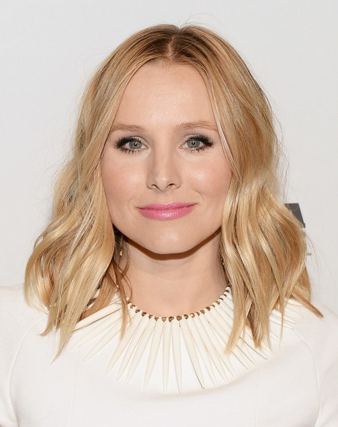 Kristen Bell Medium Hairstyles 2014: Blonde Layered Hair