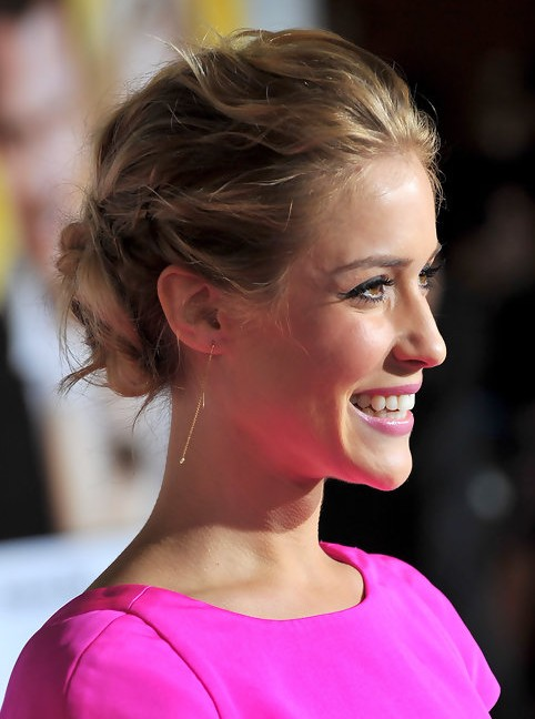 Kristin Cavallari Long Hairstyle: Bobby Updo for Curly Hair