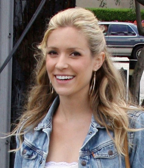 Kristin Cavallari Long Hairstyle: Casual Half Up Half Down