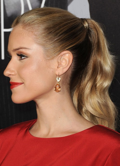 Kristin Cavallari Long Hairstyle: Curly Ponytail