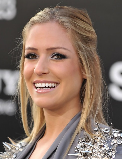 Kristin Cavallari Long Hairstyle: Half Up Half Down for Thin Hair