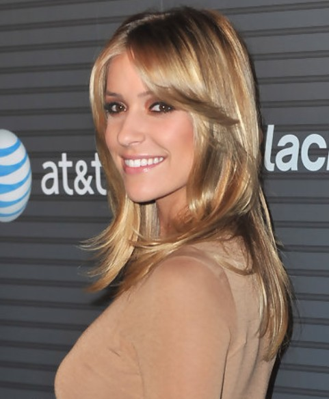 Kristin Cavallari Long Hairstyle: Layered Haircut for Office Lady