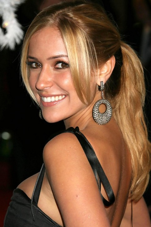 Kristin Cavallari Long Hairstyle: Ponytail with Side Bangs