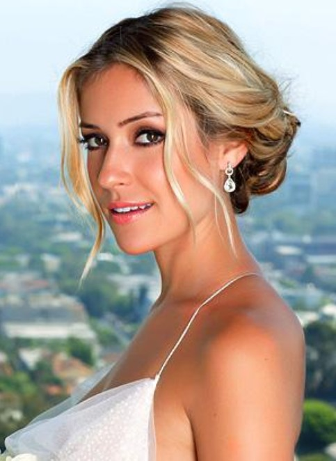 Kristin Cavallari Long Hairstyle: Romantic Bun