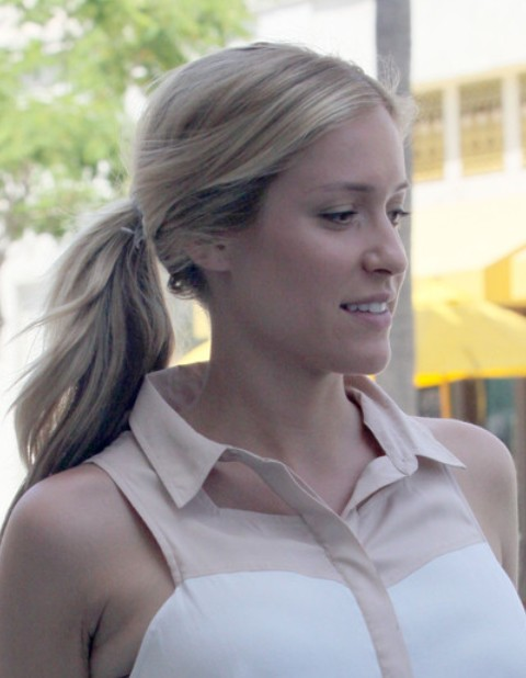Kristin Cavallari Long Hairstyle: Simple Ponytail