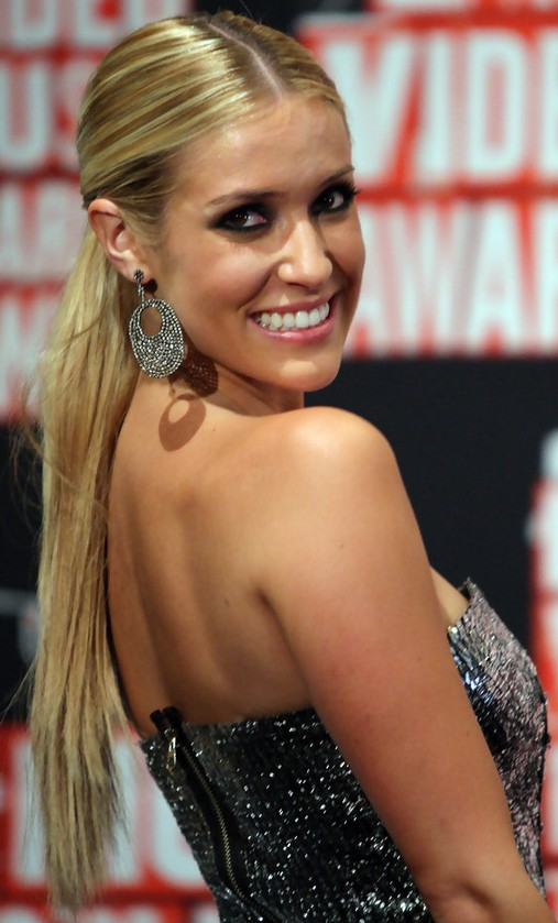 Kristin Cavallari Long Hairstyle: Sleek Ponytail