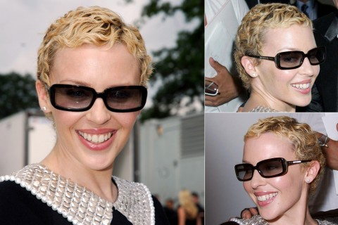 Kylie Minogue's short hairstyles