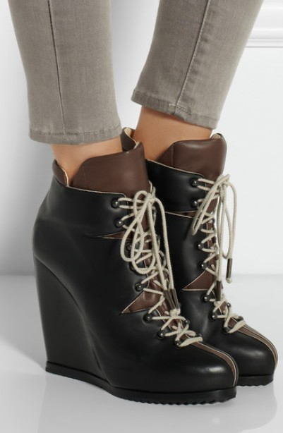 10 Stylish Lace Up Wedge Boots For Winter And Spring