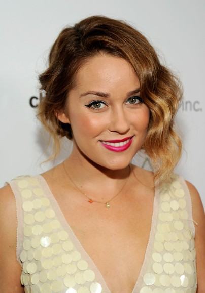 Lauren Conrad Short Wavy Ombre Hair 2014 - Ombre Hair Color Ideas
