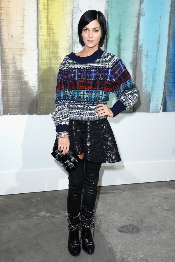 Leigh Lezark Colorful Crewneck Sweater