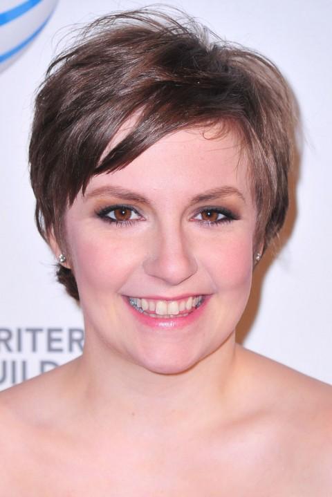 Lena-Dunham's short hairstyles