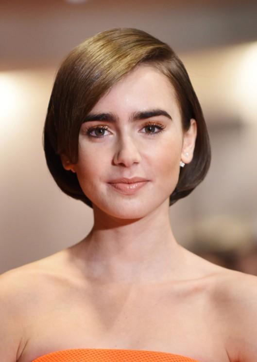 Lily Collins Short Bob Haircut for Women