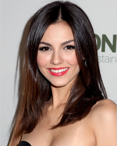 Long Brunette Ombre Straight Hairstyle for Schoolgirls