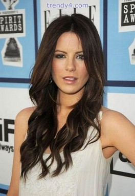 Long Curly Hairstyle For Brunette Hair