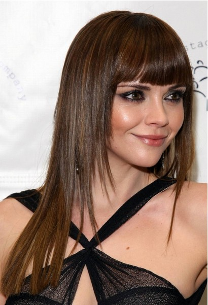 3 Fabulous Long Straight Hair With Blunt Bangs - Pretty Designs