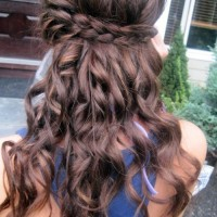 Long Tousled Waves with Braid