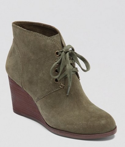 Lucky Brand Wedge Booties – Lace Up