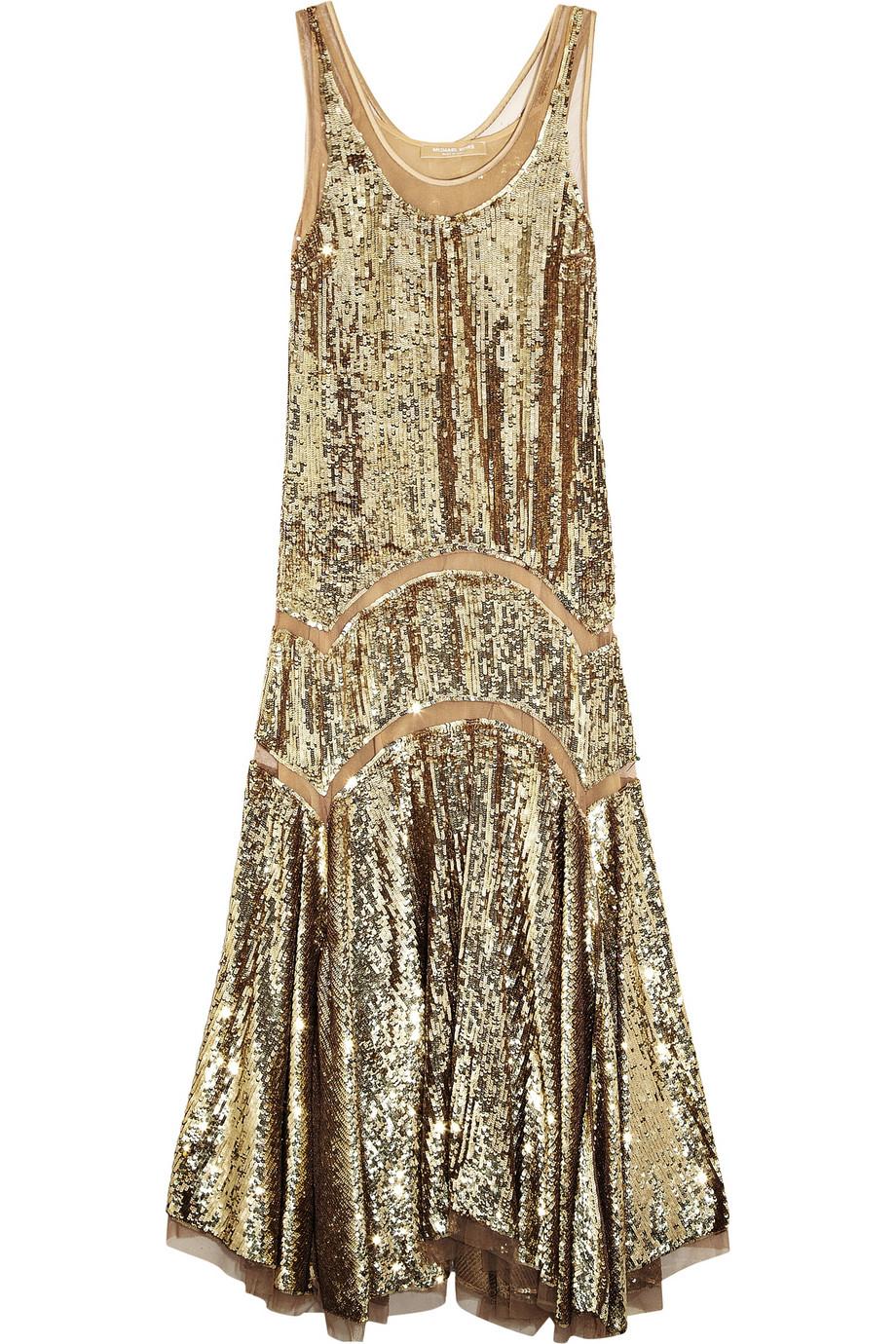 MICHAEL MICHAEL KORS Sequined midi dress