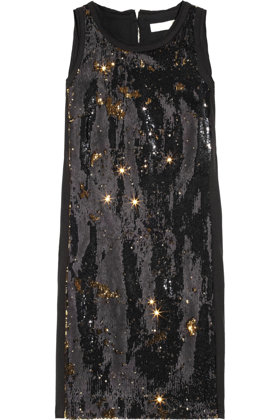 MICHAEL MICHAEL KORS Two-tone sequin-embellished crepe dress