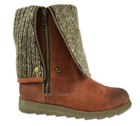 MUK LUKS® Demi Foldover-Cuff Zip Boots -Foldover Look