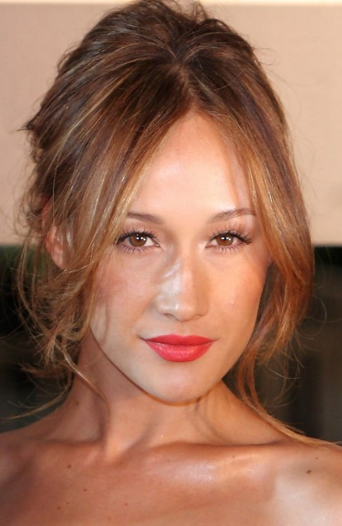 Maggie Q Hairstyles Alluring Messy Updo Pretty Designs