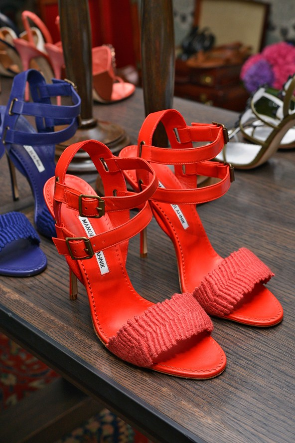 Manolo Blahnik Red Summer Shoes