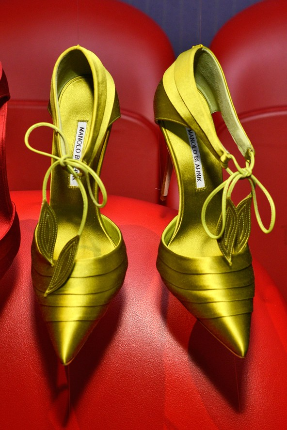 Golden Shoes for Women - Manolo Blahnik Shoes Spring/Summer 2014