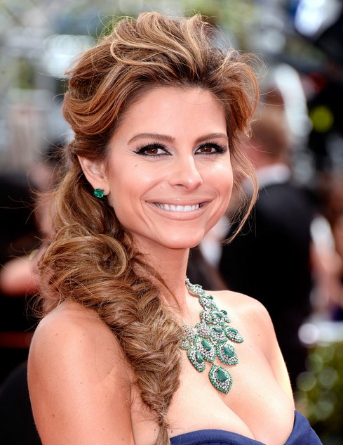 Maria Menounos Hairstyles: Fishtail Braid Ideas 2014