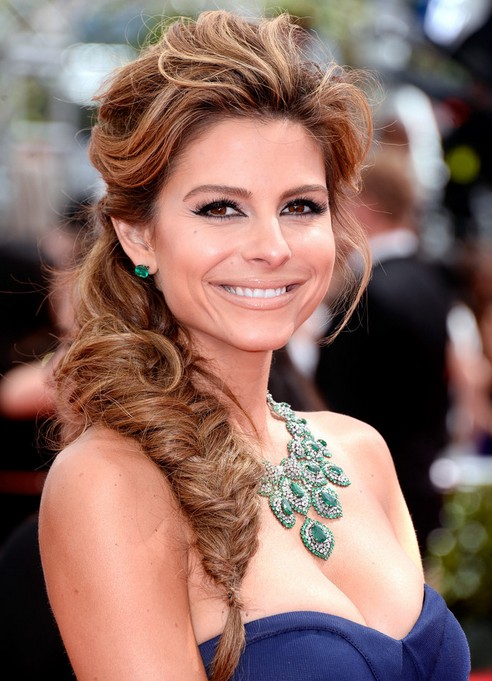 Maria Menounos Long Hairstyles: Fish Braided Hairstyle for Night Out