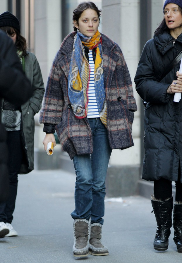 Marion Cotillard Plaid Swing Jacket