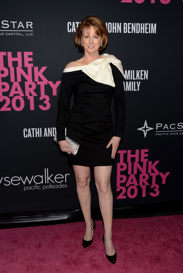 Melissa Rosenberg Long Sleeve Mini Dress with a Massive Bow on Shoulder