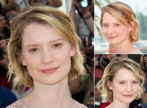Mia-Wasikowska's short hairstyles