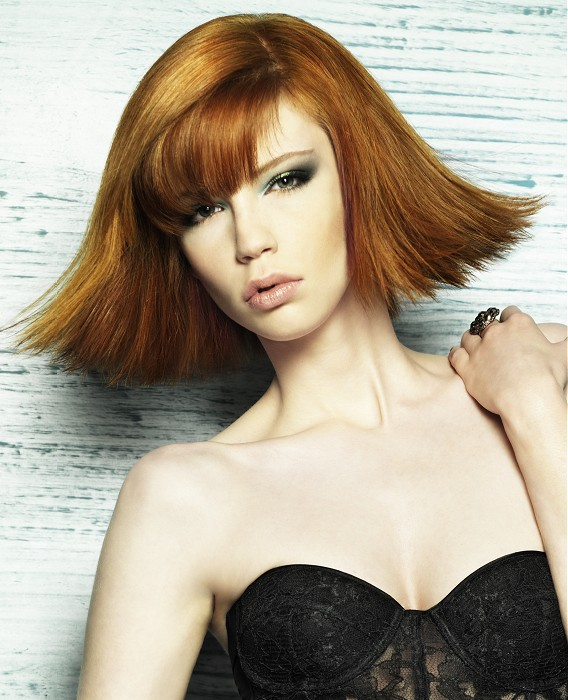 Michael John-Medium-Red-straight-hairstyles