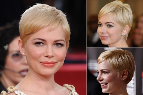 Michelle Williams' short hairstyles