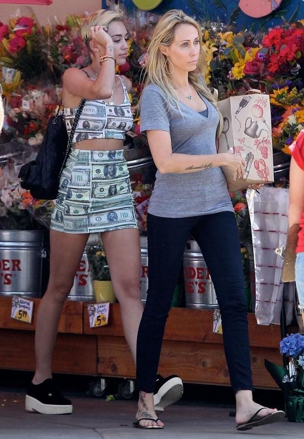 Miley Cyrus Money Print Crop Top by O-mighty