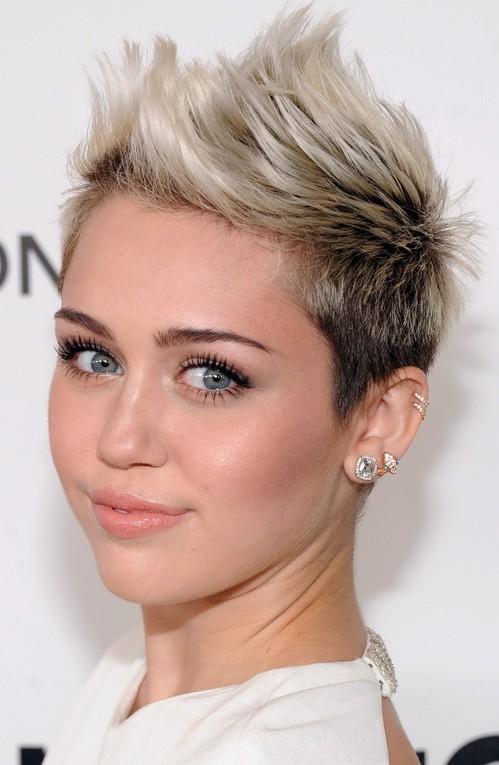 Miley Cyrus Pompadour & Quiff Hairstyles