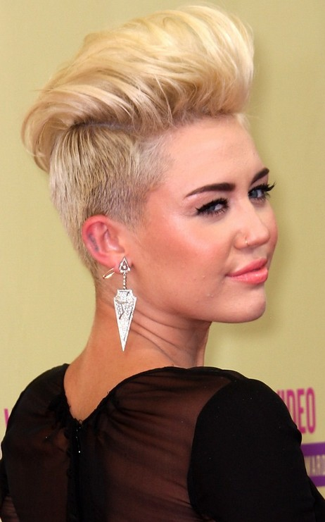 Miley Cyrus Quiff Hairstyles