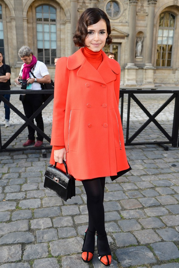 Miroslava Duma Retro Orange Swing Jacket