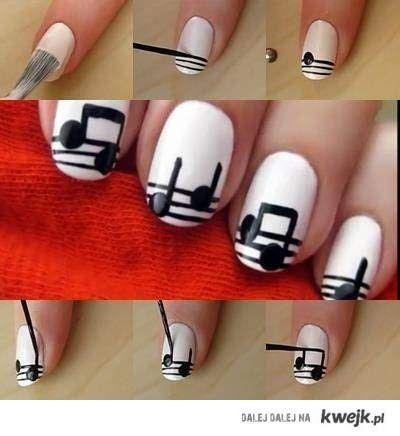 Nail Diy Music Notes Art