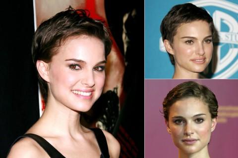 Natalie Portman's Short hairstyles