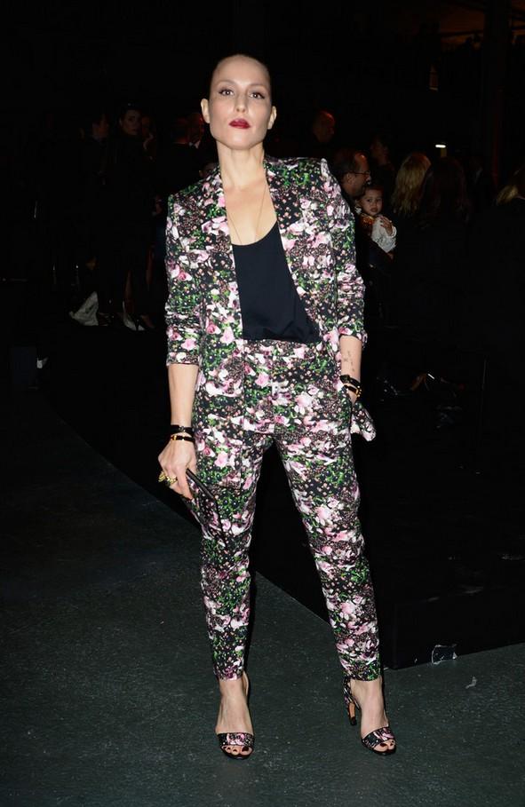 Noomi Rapace Floral Pantsuit