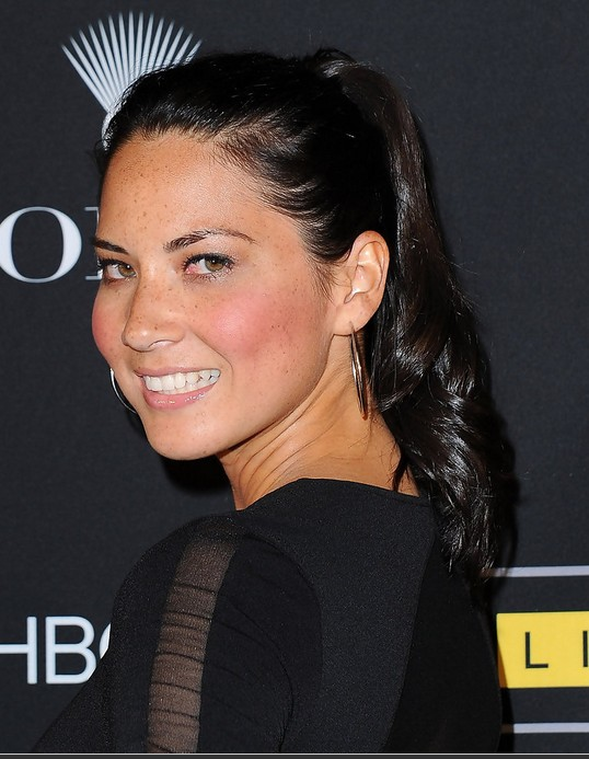 Olivia Munn Hairstyle: Long Ponytail
