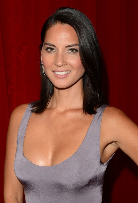 Olivia Munn Medium Hairstyle: Black Straight Haircut