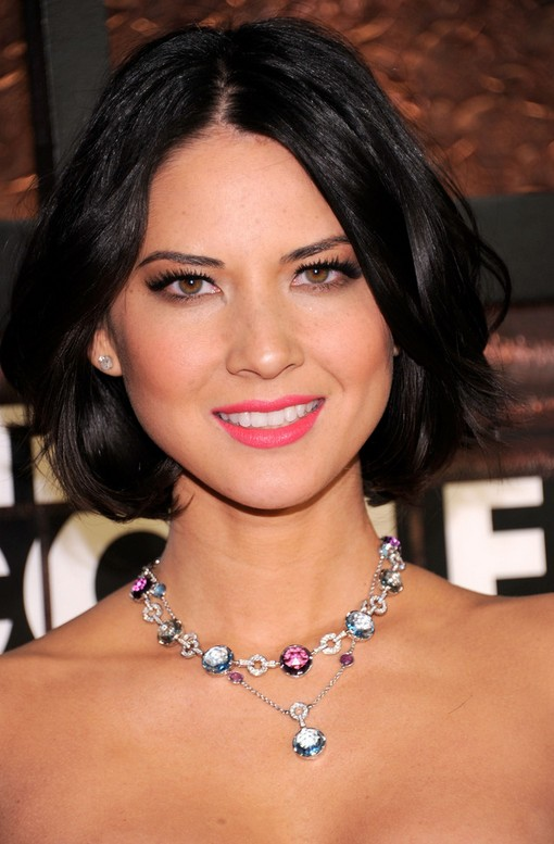 Olivia Munn Mid-length Hairstyle: Bob with Side Parts for Evening Dress