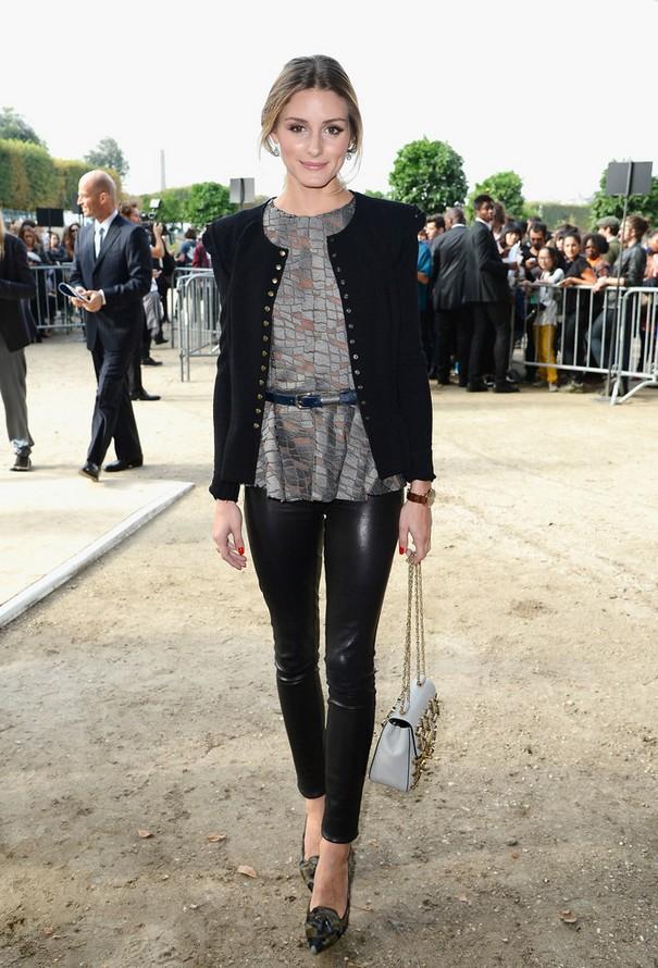 Olivia Palermo Fitted Black Jacket