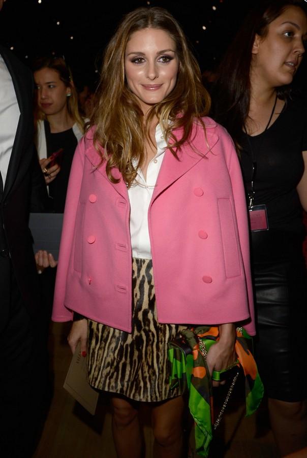 Olivia Palermo Retro Pink Swing Jacket