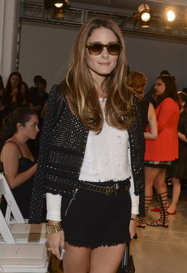 Olivia Palermo Studded Black Cropped Jacket