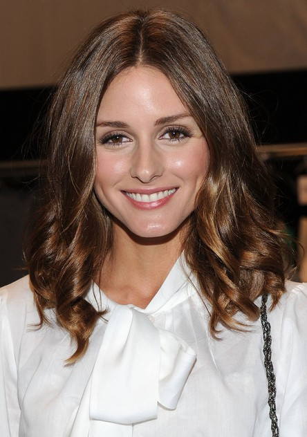Ombre Shoulder-length Center Parted Curly Wavy Hairstyle for Women 2014