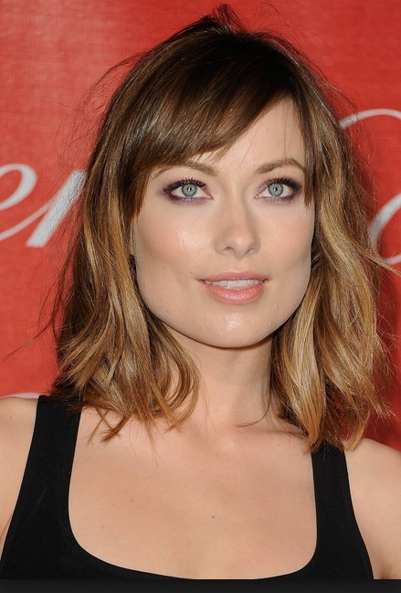 Ombre Shoulder Length Wavy Hairstyle With Side Bangs For Women 2017